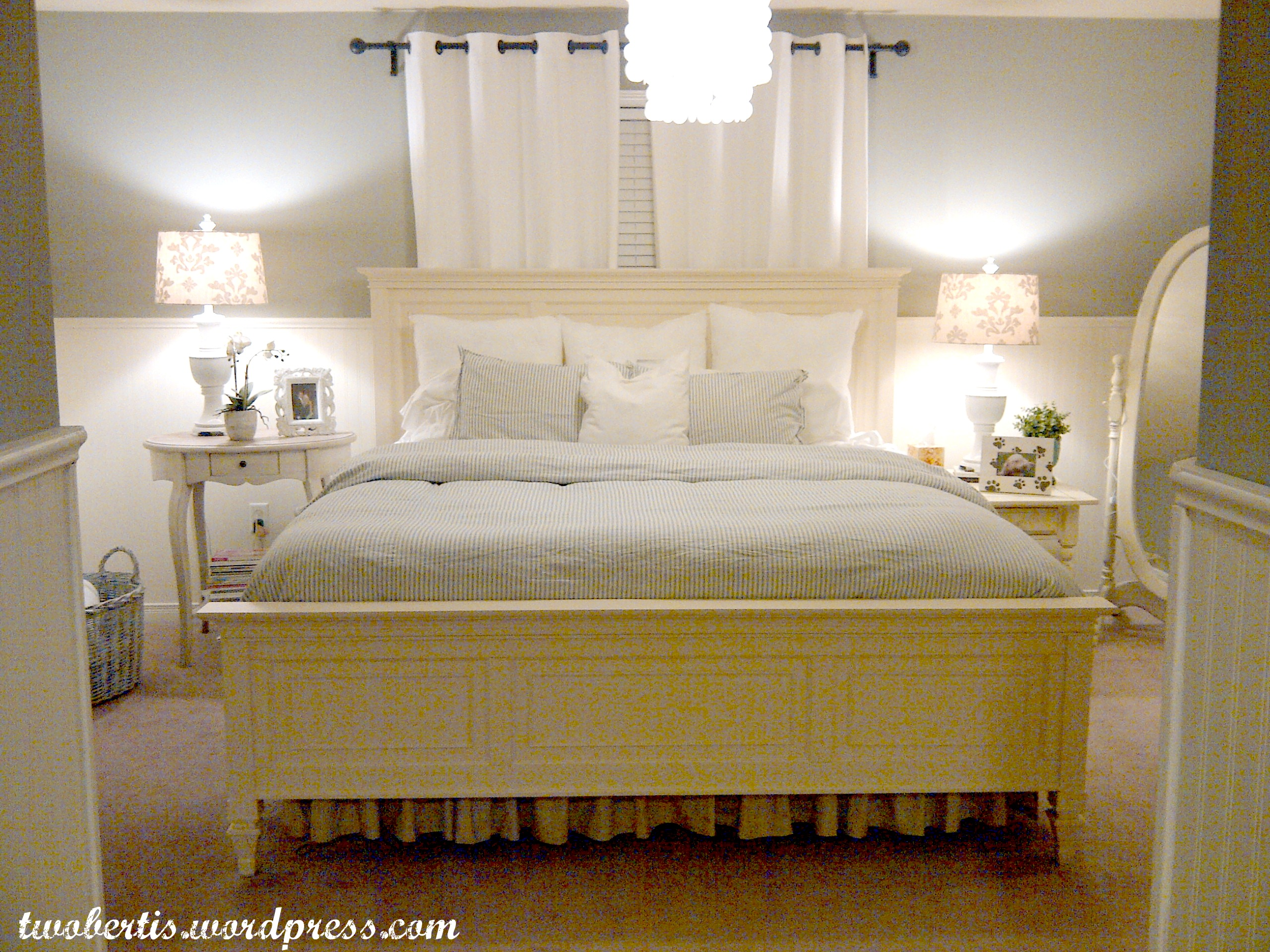 Remodelaholic | Pottery Barn Inspired Master Bedroom Makeover