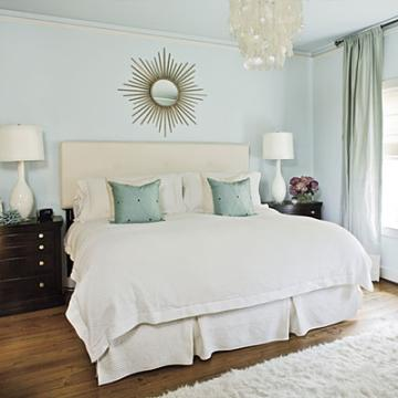 Light green relaxing master bedroom colors - Pottery Barn Inspired Master Bedroom Makeover Diy