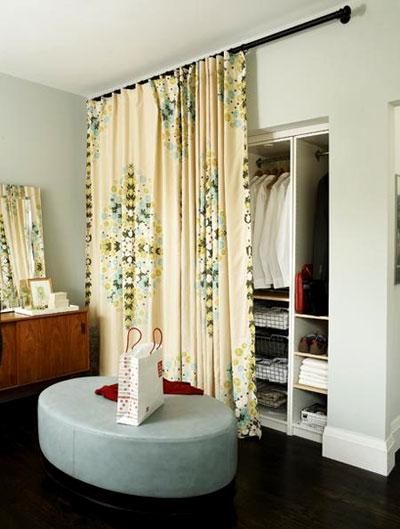 Diy closet door ideas twobertis - Curtains for sliding glass doors in bedroom ...