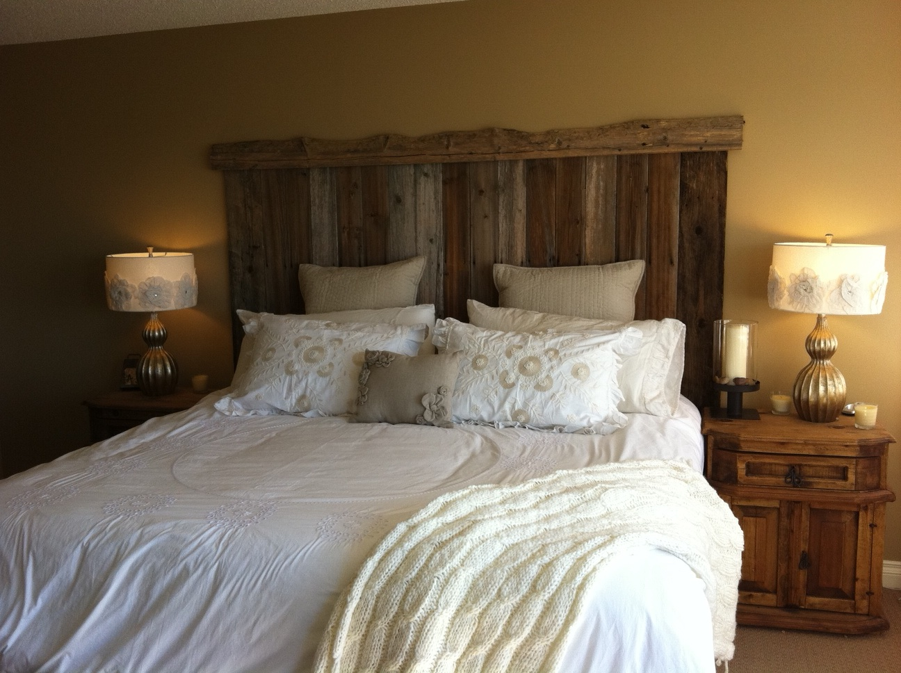 barn board headboard twobertis