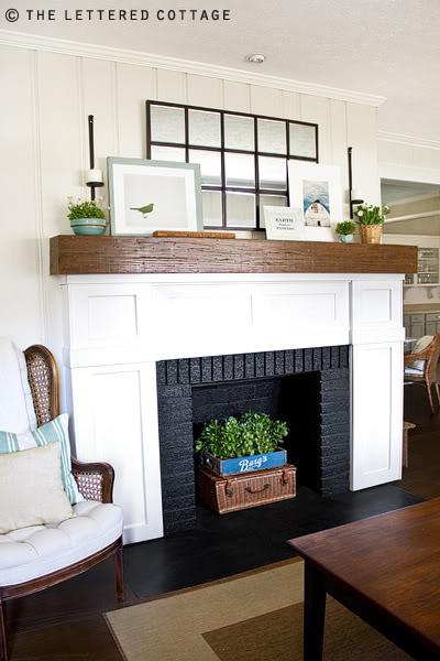 spring decorating mantel twobertis. Black Bedroom Furniture Sets. Home Design Ideas