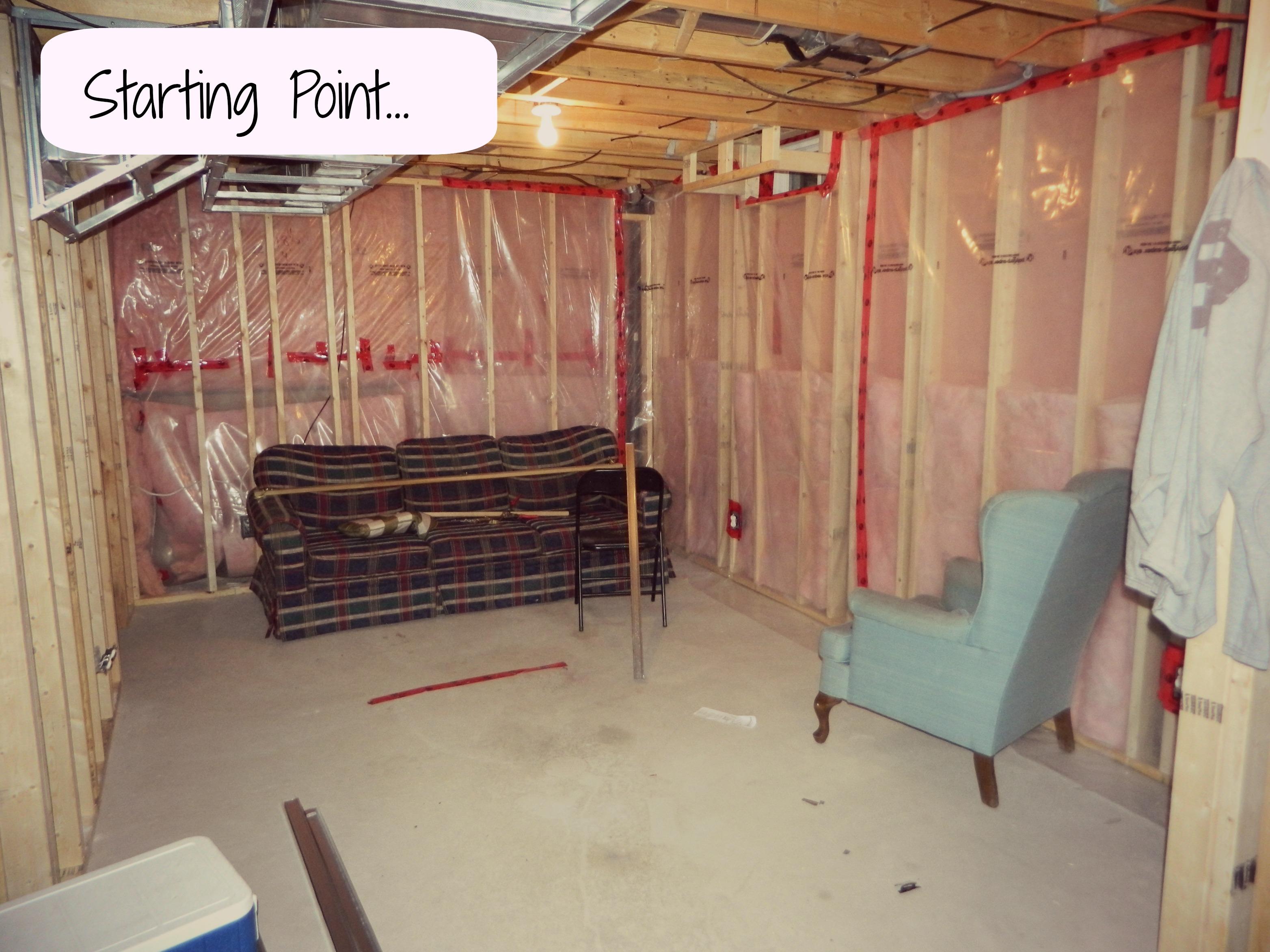 basement reno the pine slats were along the bulkhead up top