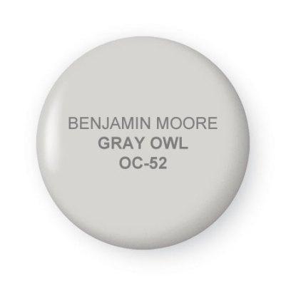 gray owl by benjamin moore twobertis. Black Bedroom Furniture Sets. Home Design Ideas