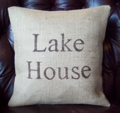 http://www.etsy.com/listing/108616658/lake-house-burlap-pillow-cover-16-x-16