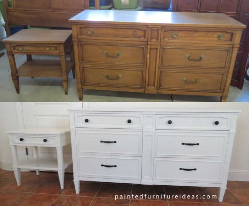 http://paintedfurnitureideas.com/drexel-dresser-set-refinished-in-white/