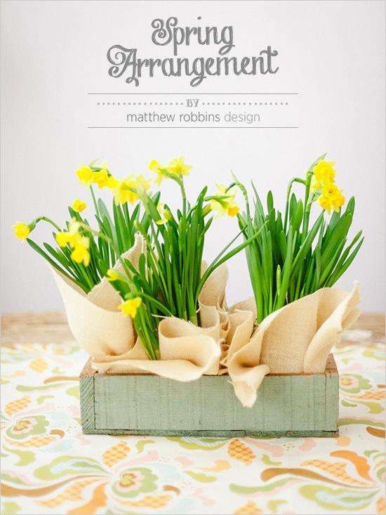 http://www.weddingchicks.com/2013/03/18/easy-spring-arrangement/