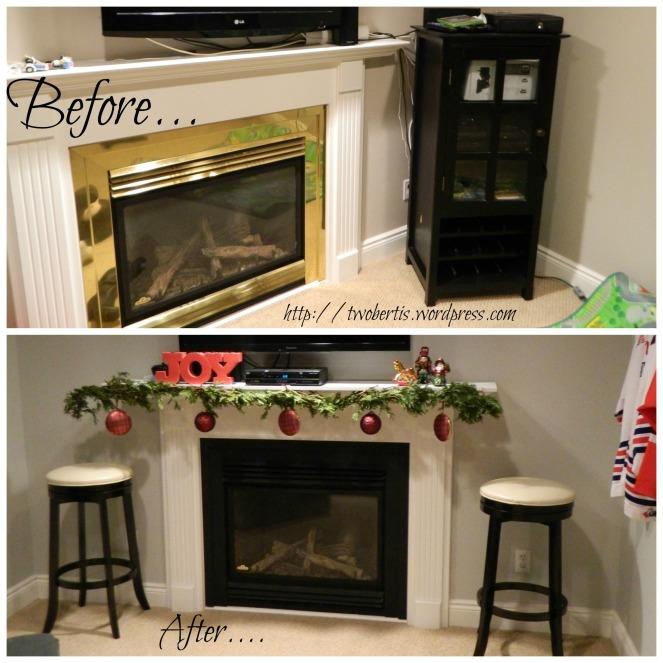 basement fireplaceB+A